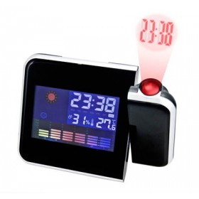 Weather station projection clock